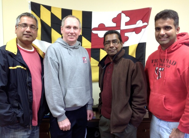 Maryland Youth Cricket Coaches (L-R: Anu Babbar, Warren Prestwich, Ajith Silva, Sham Chotoo. Not pictured: Greg Edwards.)