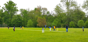 Bowie bats against Germantown in the 11U match